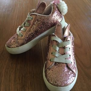 Pink Sparkly Bunny Sneakers